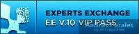 Small Experts Exchange VIP Badge